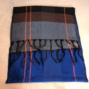 Hand Woven Hand Dyed Silk Cotton Scarf